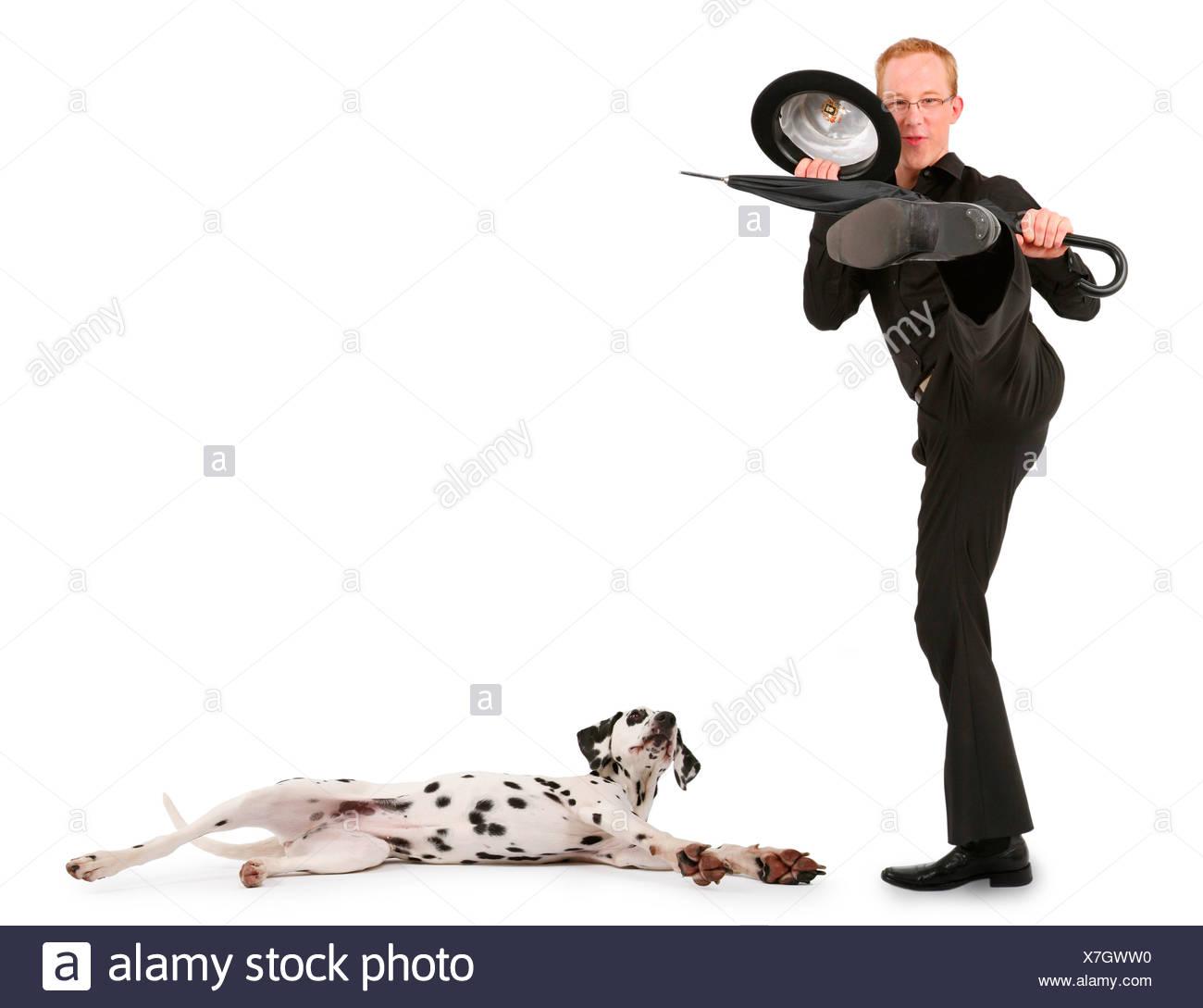 17ef9190fa9b2 Dog Umbrella Hat Stock Photos   Dog Umbrella Hat Stock Images - Alamy