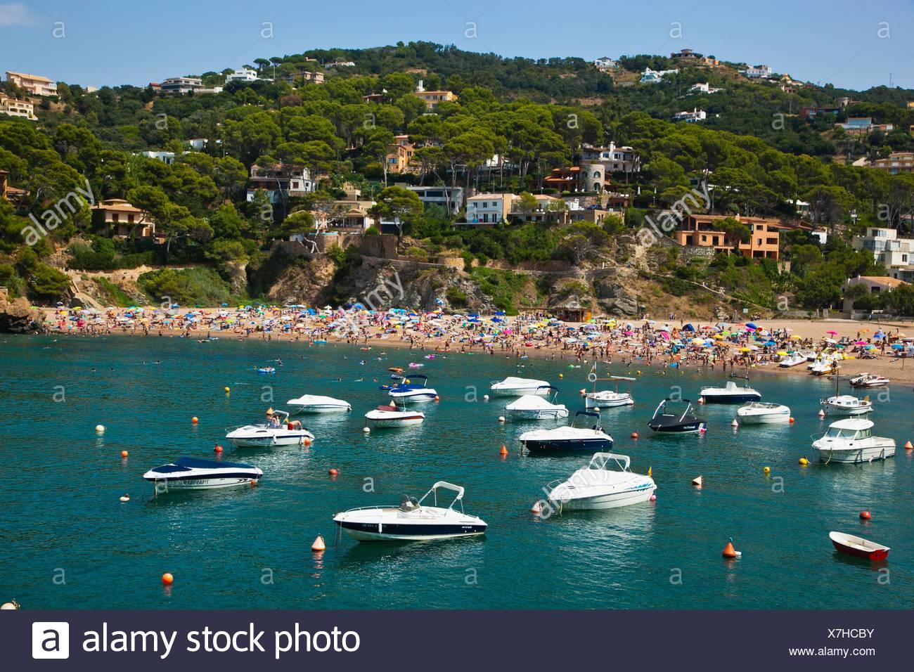 Sa Riera beach, Begur, Baix Empordá, Costa Brava, Girona Province, Catalonia, Spain. - Stock Image