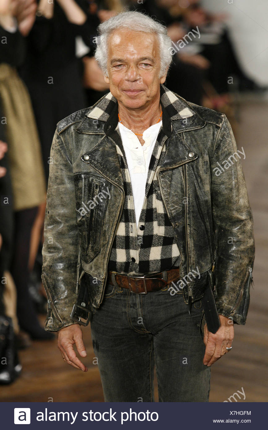 Ralph Lauren New York Ready To Wear Autumn Winter Fashion Designer Ralph Lauren On The Catwalk At The End Of The Show Stock Photo Alamy