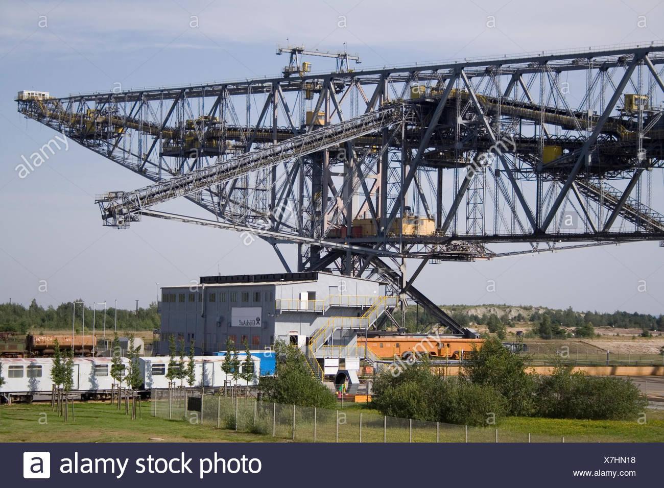 machine,steel construction,opencast - Stock Image