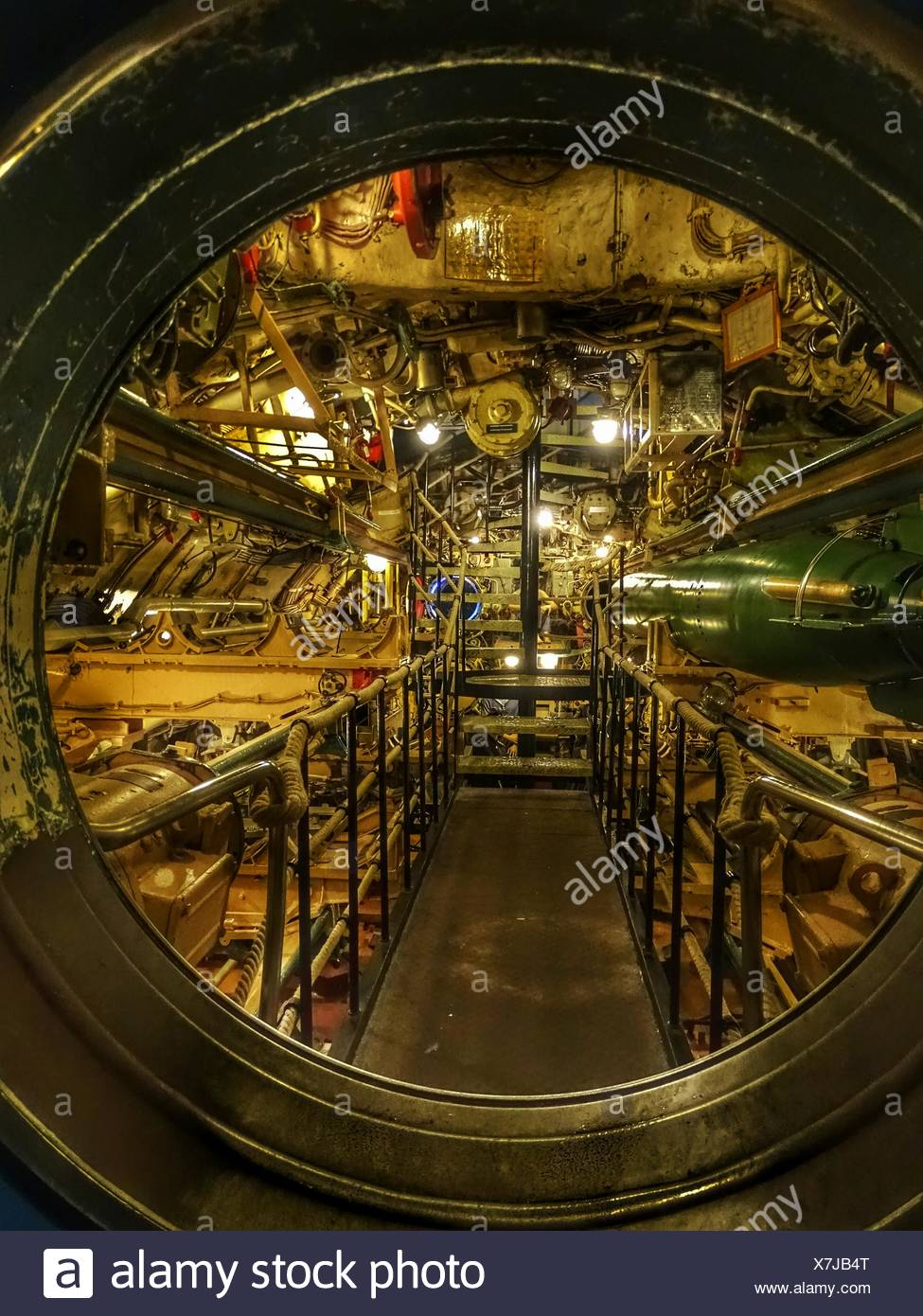 Interior Of Submarine - Stock Image