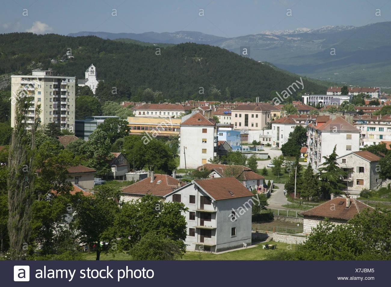 Montenegro, Niksic, Stadtansicht, - Stock Image