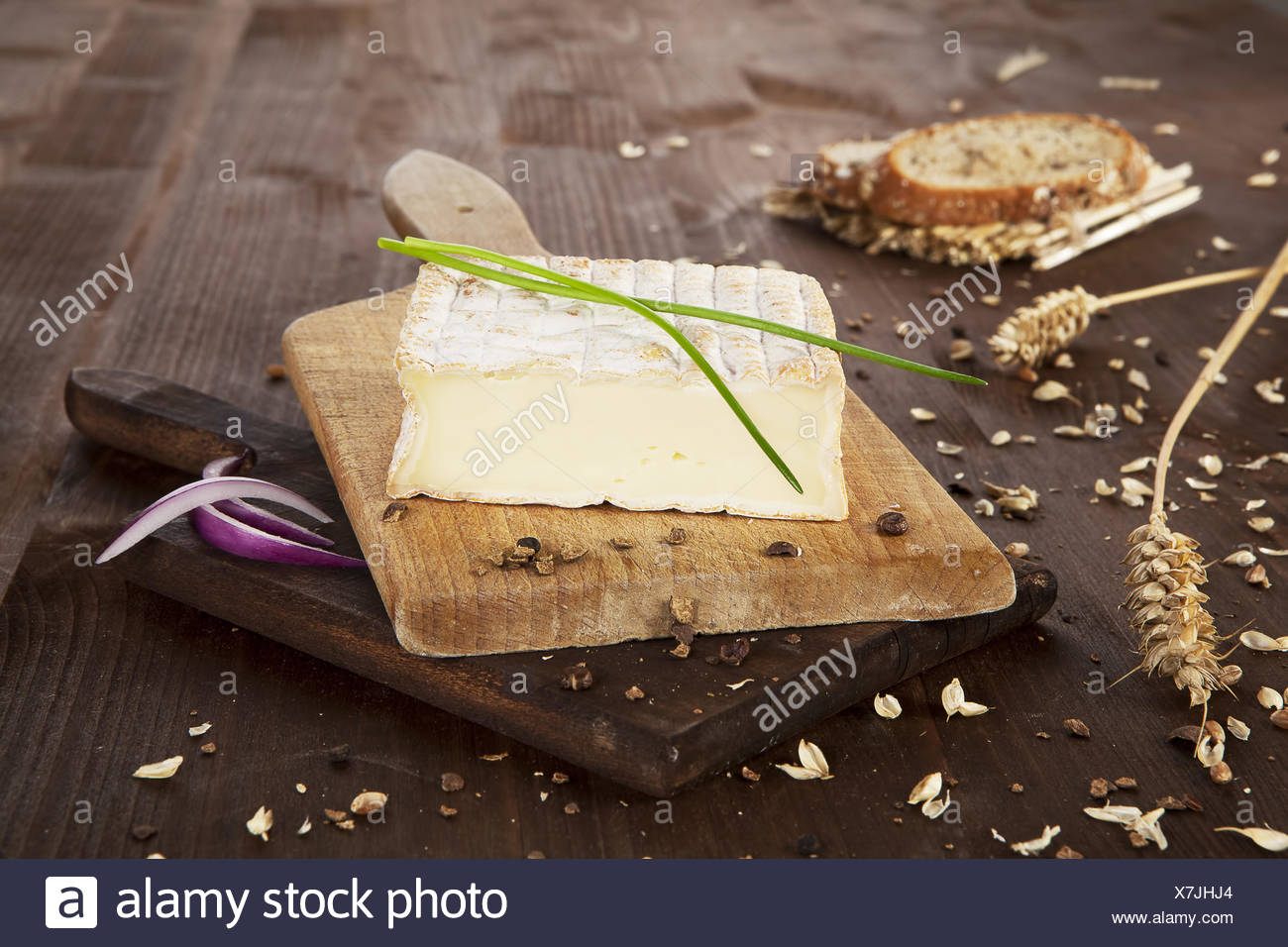 Luxurious cheese. - Stock Image