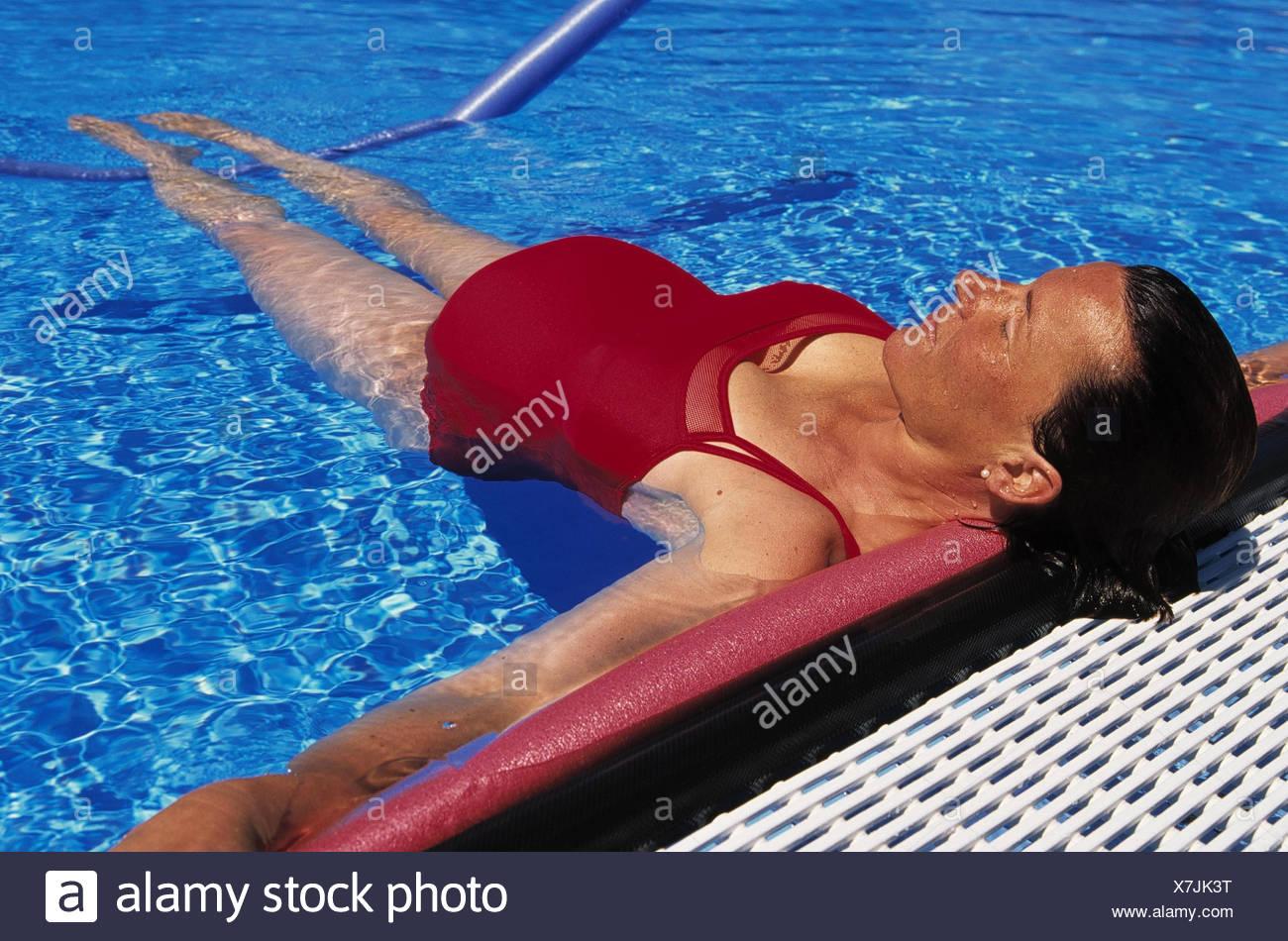 Woman, pregnant, water gymnastics gestation, pregnant ...