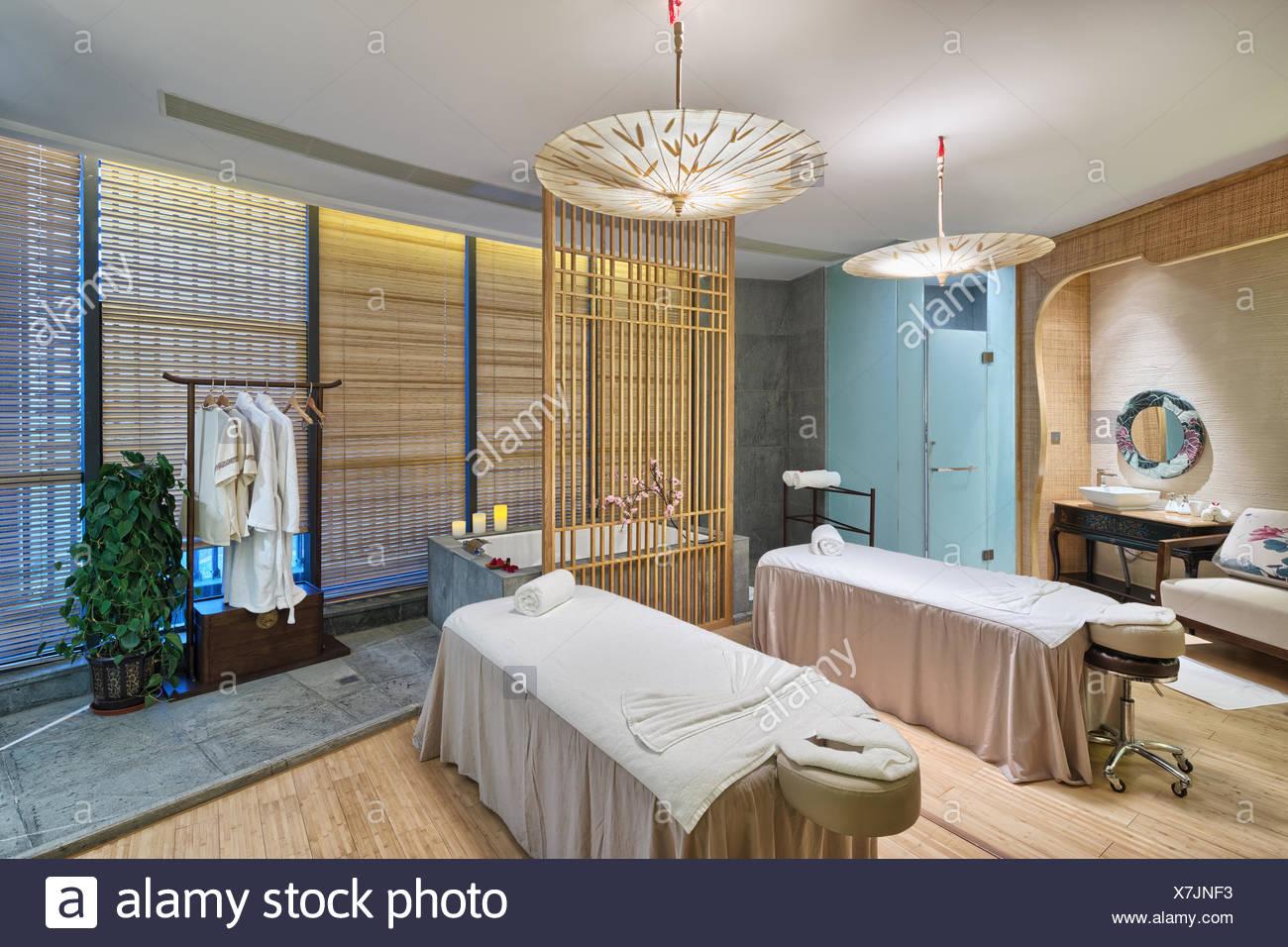 interior of modern spas room - Stock Image