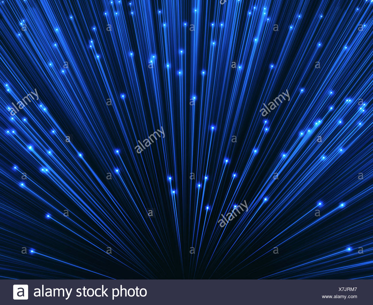 Fibre optics, illustration. - Stock Image