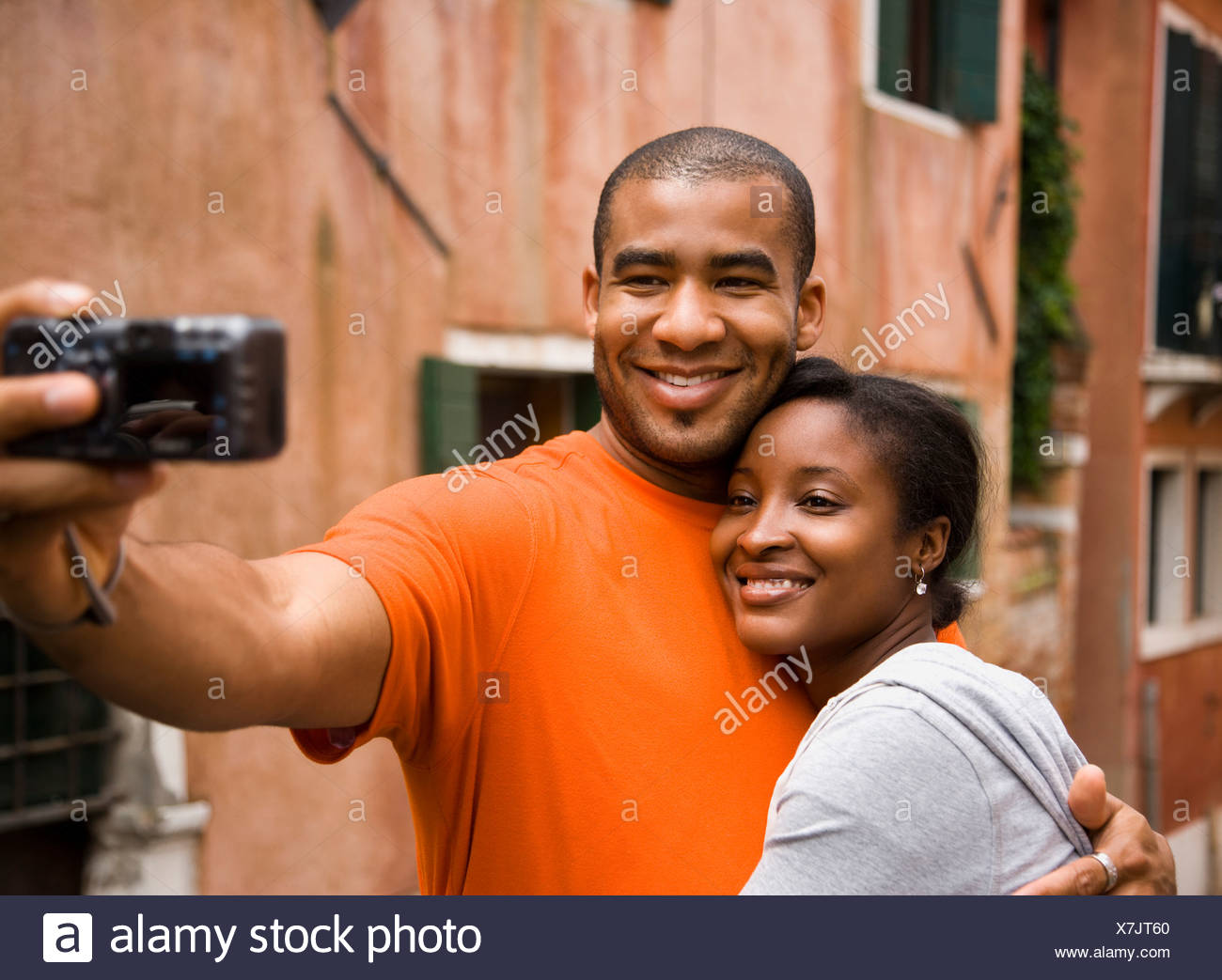 Couple on vacation. - Stock Image