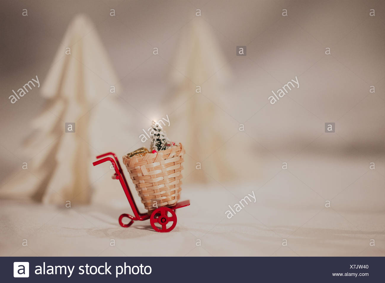 1 object,basket,beautiful,christmas,christmas tree,decoration,decorative,design,fir,handmade,isolated,japan,love,object,origami,origami fir,paper,paper fir,paper tree,pastel color,purple,red,red carts,romantic,shape,traditional,trendy,vector,white - Stock Image
