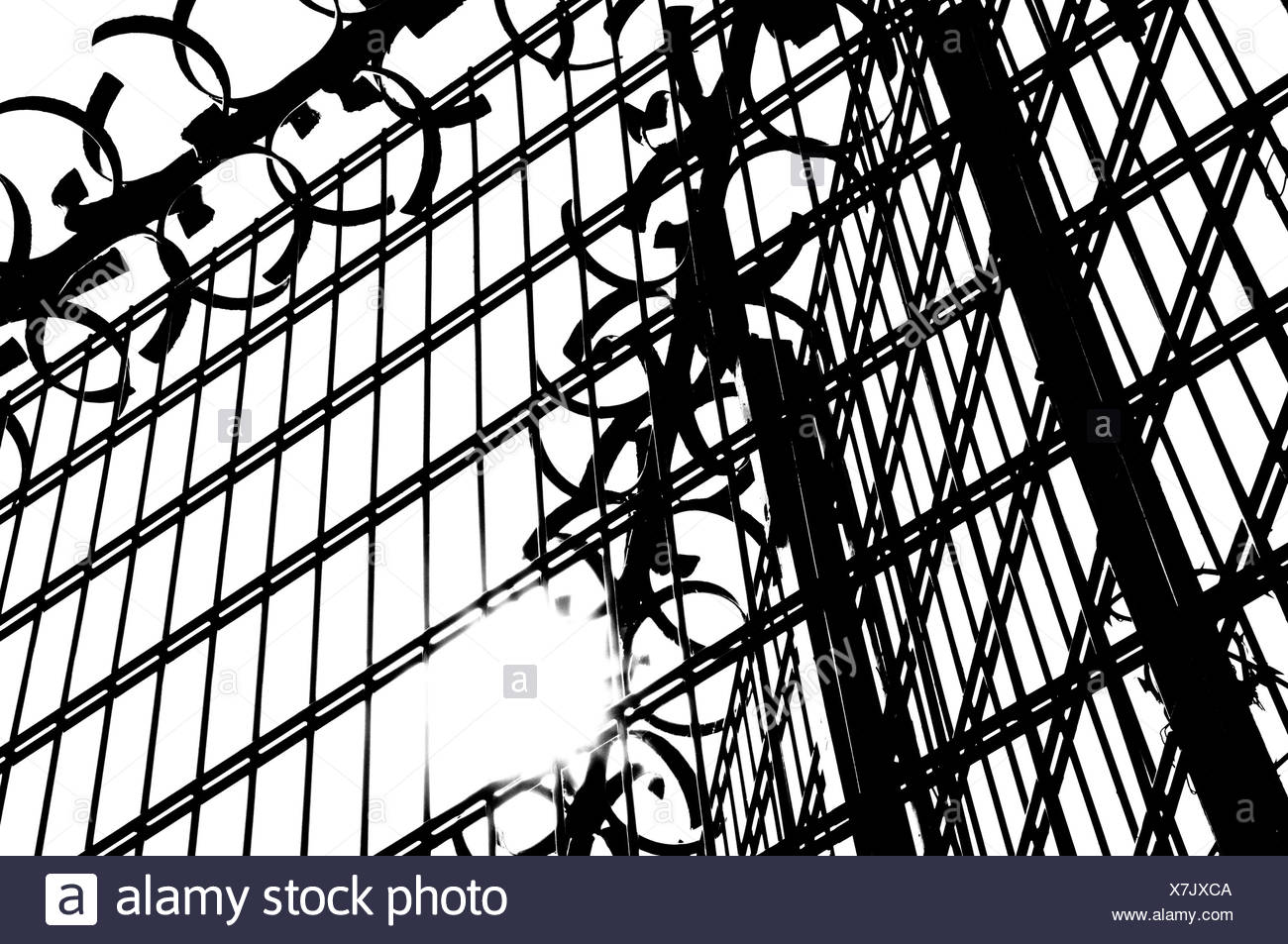 Security fence - Stock Image
