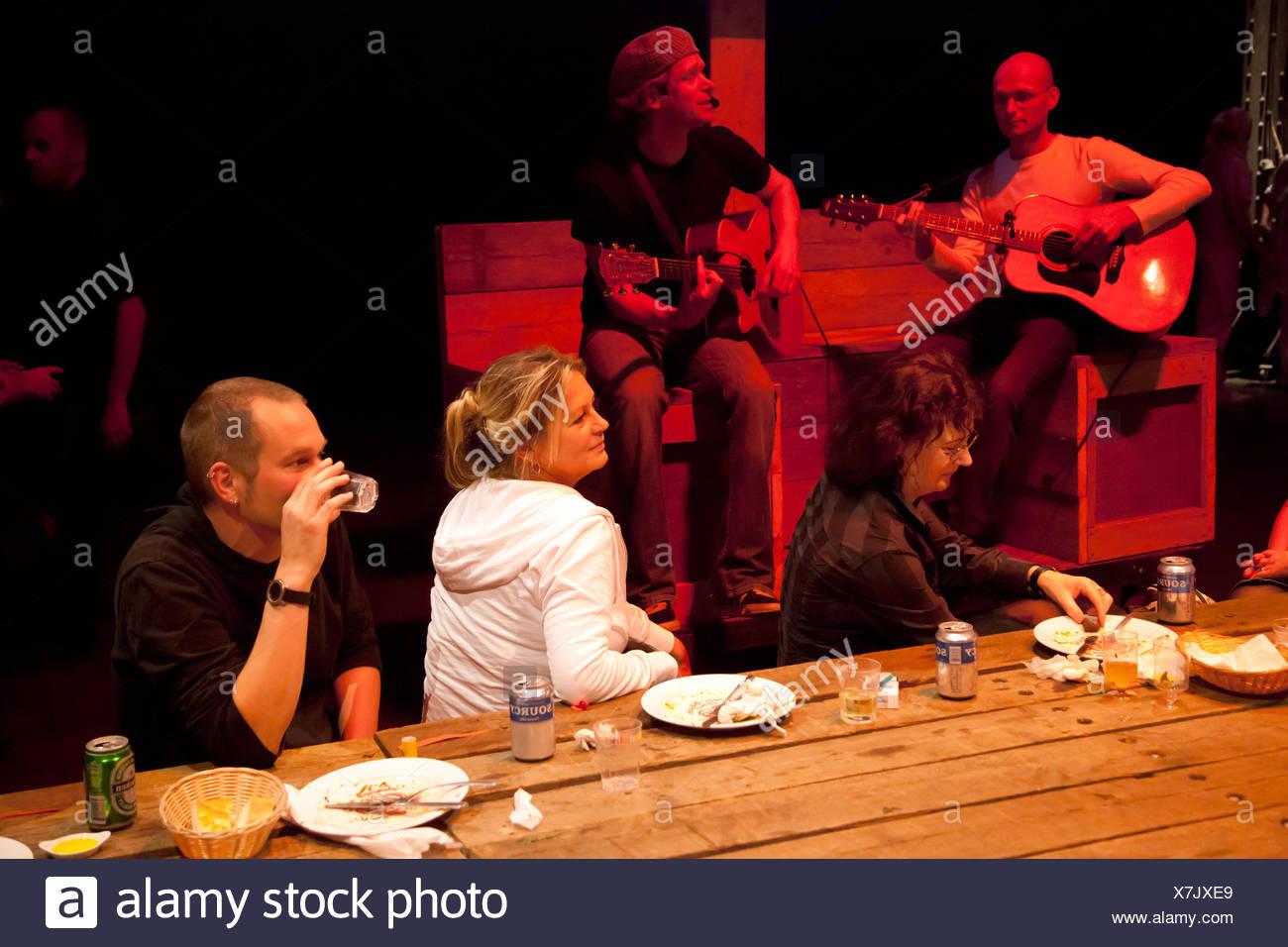 Bochum, Germany, Kleinkuenstler entertain the guests at the festival Melez - Stock Image