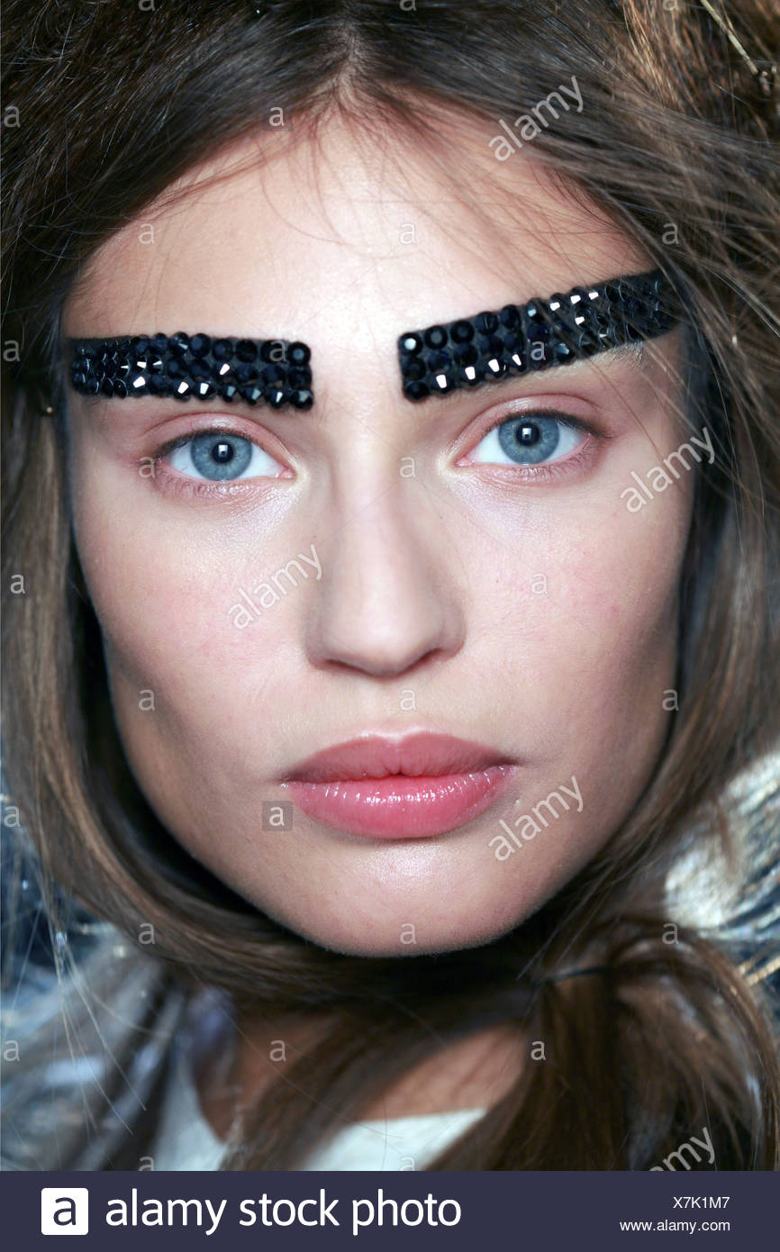 Thick Drawn On Eyebrows Stock Photos Thick Drawn On Eyebrows Stock