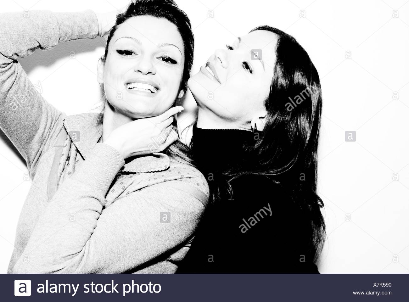 Portrait of two women - Stock Image