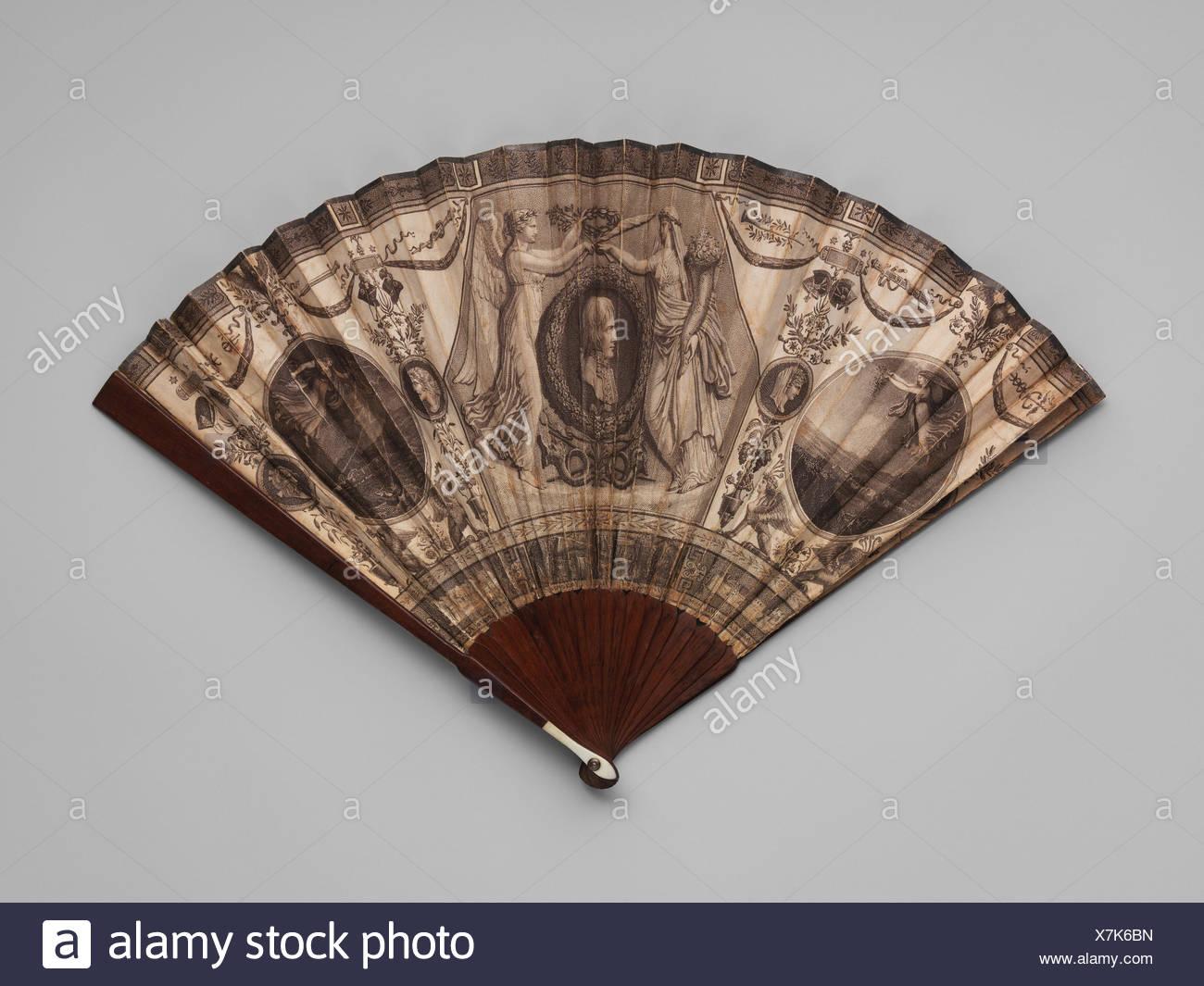Fan. Artist: after Antoine Denis Chaudet (French, Paris 1763-1810 Paris); Artist: after Pierre François Léonard Fontaine (French, Pontoise 1762-1853 - Stock Image