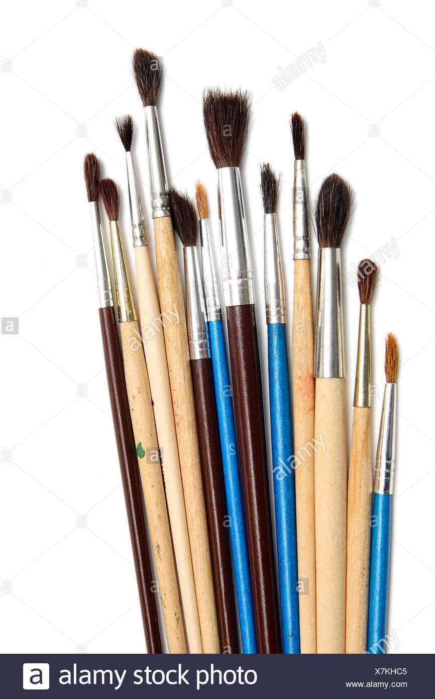 Brushes of various sizes - Stock Image