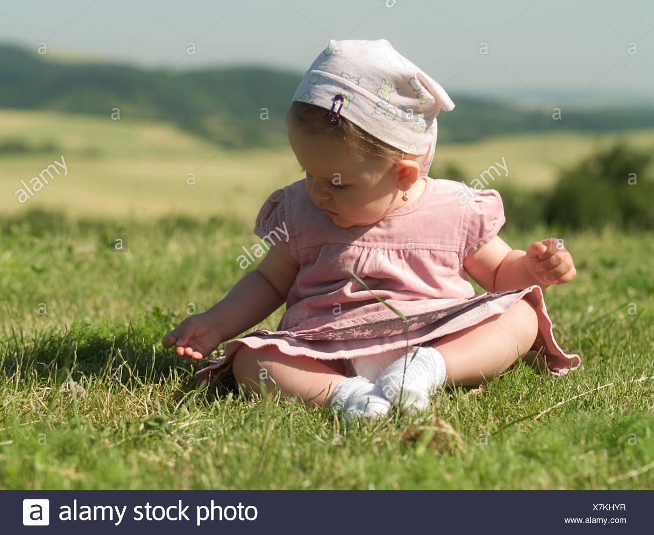 friendly kind baby - Stock Image