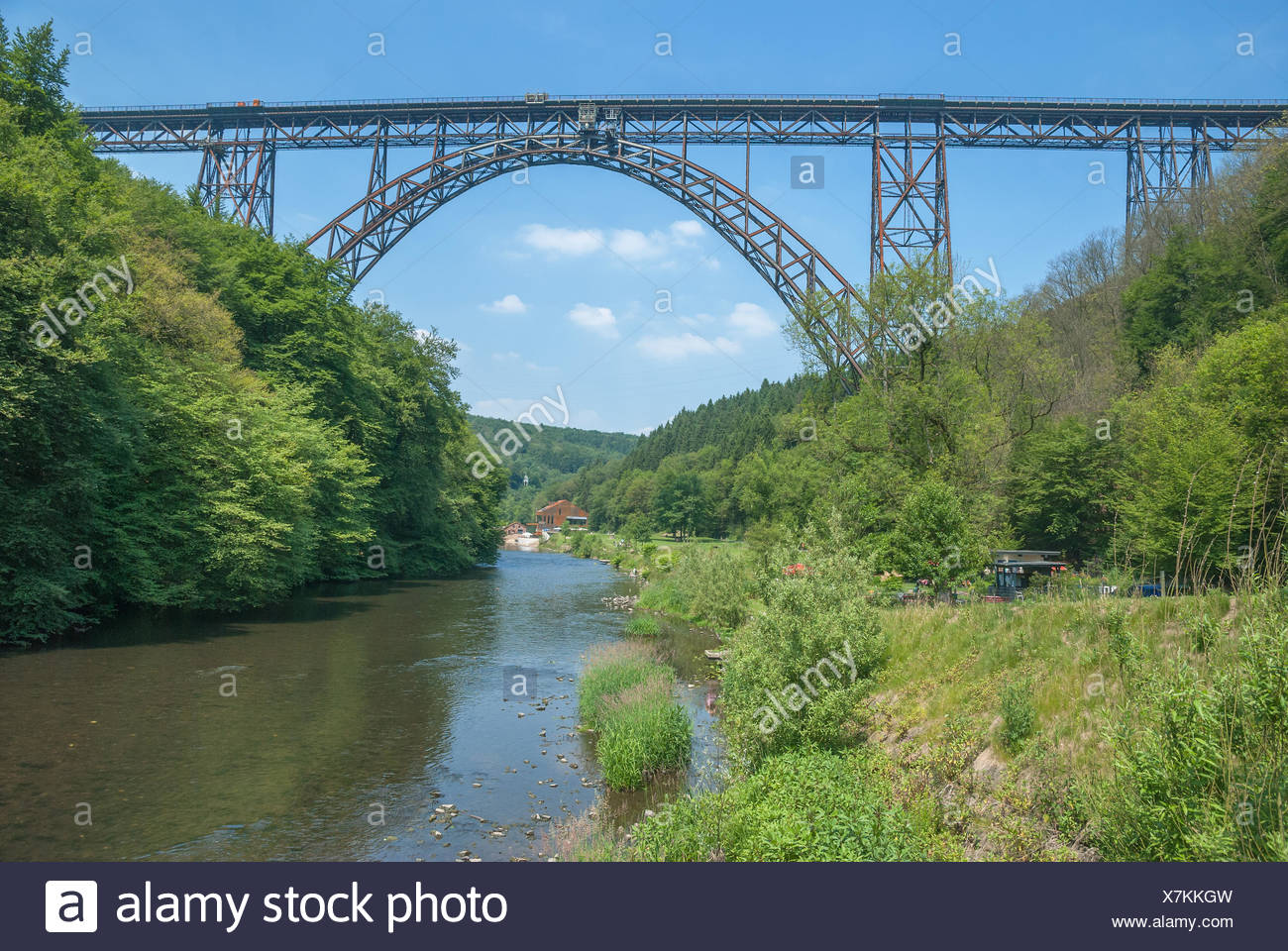 Muengstener Bruecke near Solingen,Germany - Stock Image