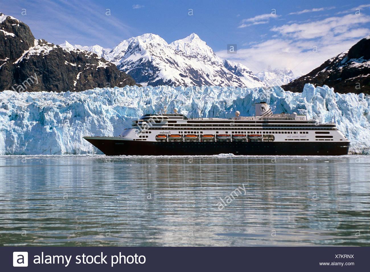 Holland America Cruiseship Zaandam In Front Of Margerie Glacier Glacier Bay National Park Se Alaska Stock Photo Alamy