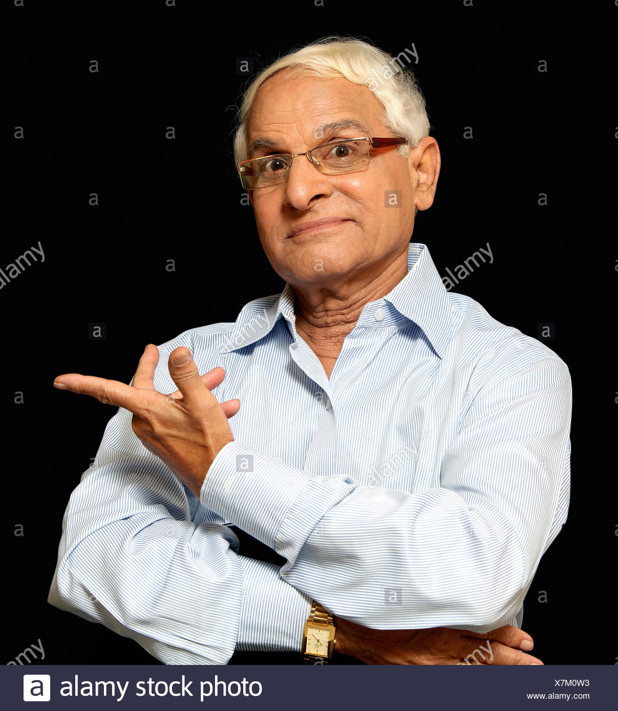 A expressing 'What was that' gesture, Pune, India - Stock Image