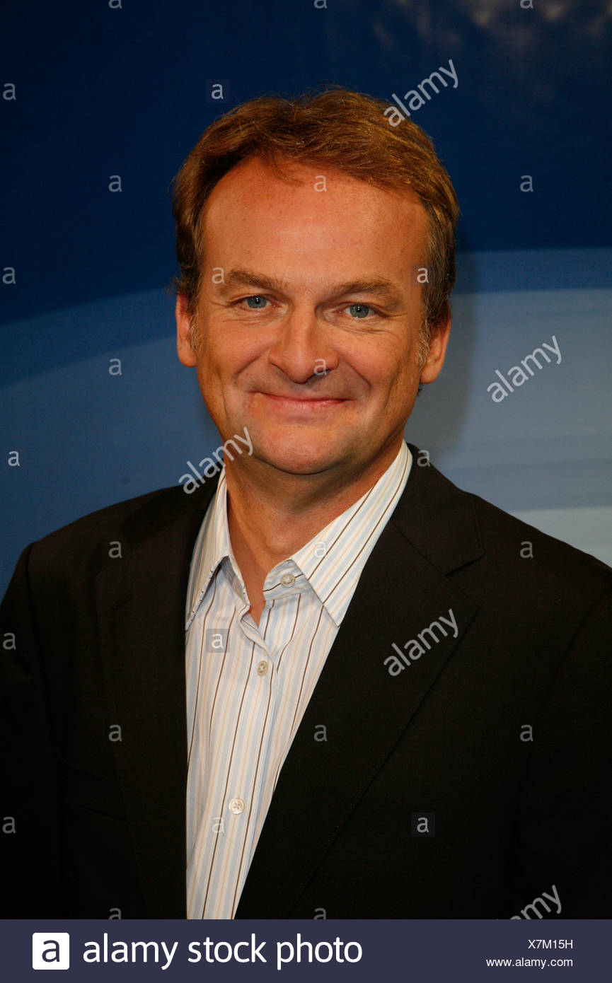 Plasberg, Frank, * 18.5.1957, German journalist and moderator, portrait, photo call to the ARD telecast 'Hart aber fair', Hamburg, 20.9.2007, Additional-Rights-Clearances-NA - Stock Image