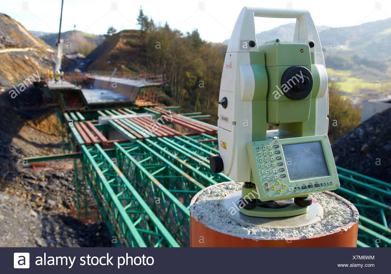 Topography station, Surveying, Construction of viaduct, Works of the