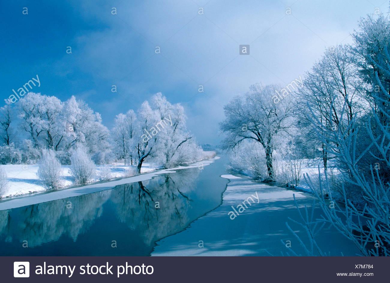 River Loisach / Fluss Loisach - Stock Image