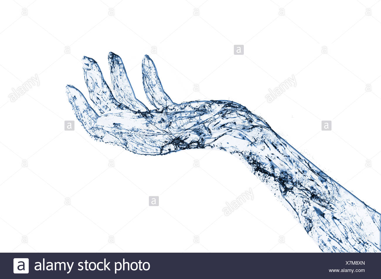 abstract waterhand - Stock Image