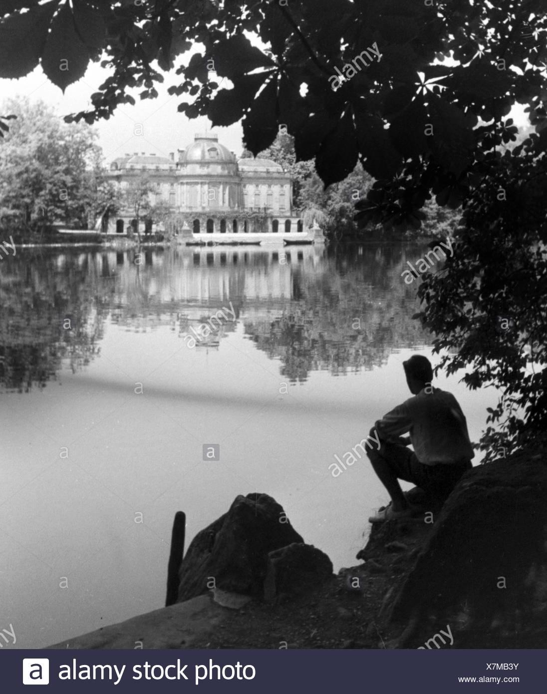 Ein Ausflug nach Marbach, Deutsches Reich 1930er Jahre. A trip to Marbach, Germany 1930s - Stock Image
