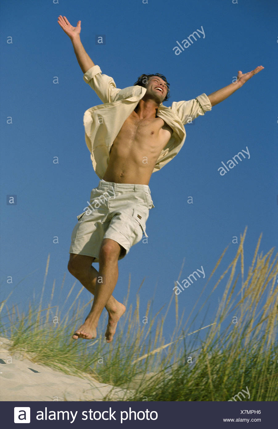 Man rejoicing Stock Photo