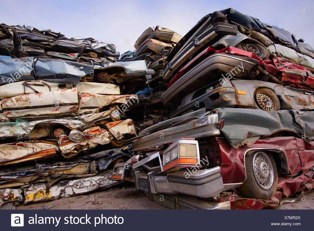 Scrap metal lot Stock Photo