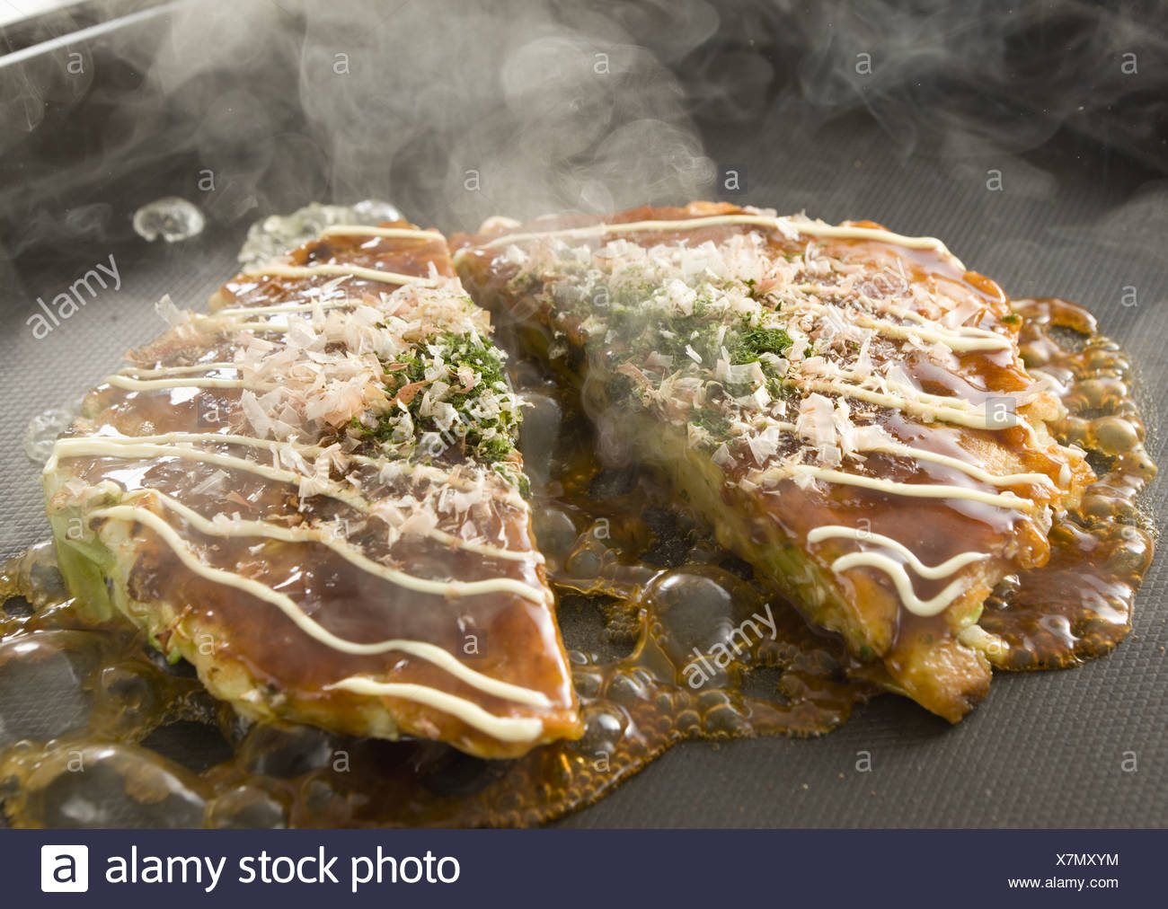Okonomiyaki Stock Photo