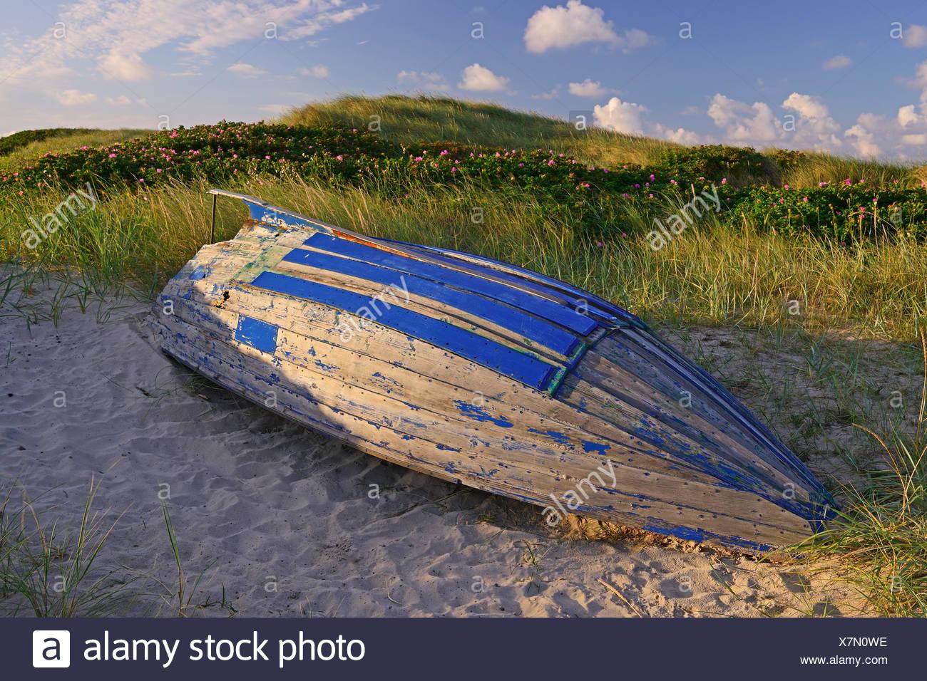 altes Fischerboot, Kampen, Sylt, nordfriesische Inseln, Nordfriesland, Schleswig-Holstein, Deutschland Stock Photo