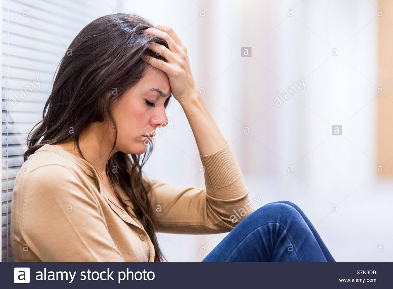 Sad Woman Stock Photos Sad Woman Stock Images Alamy