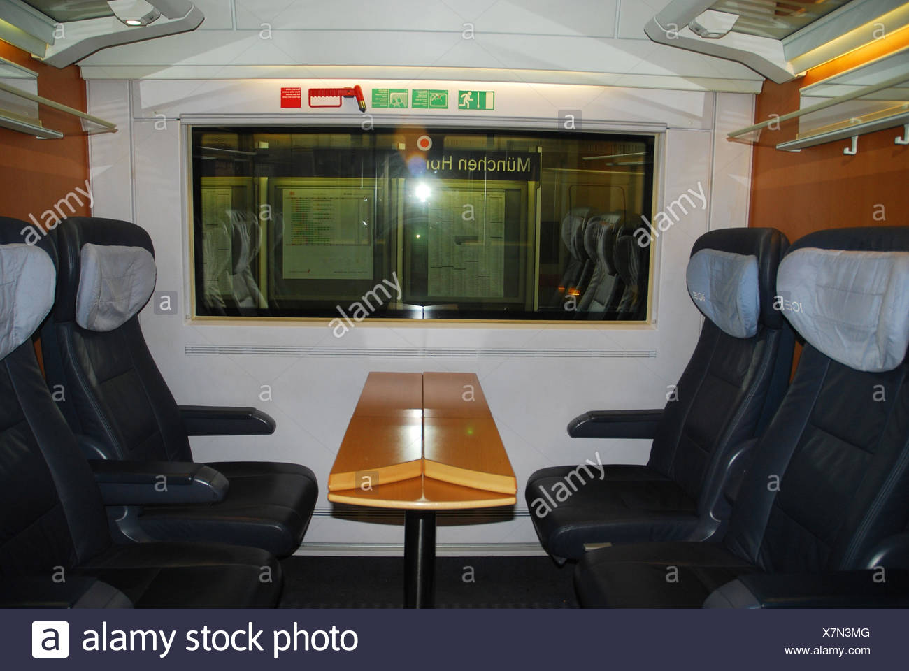 Intercity express compartment, 1st class, no property release, - Stock Image