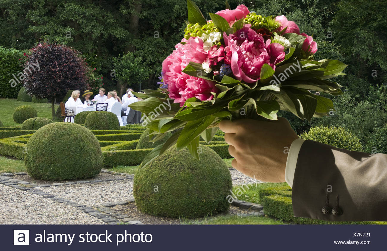 Hand Bouquet - Stock Image