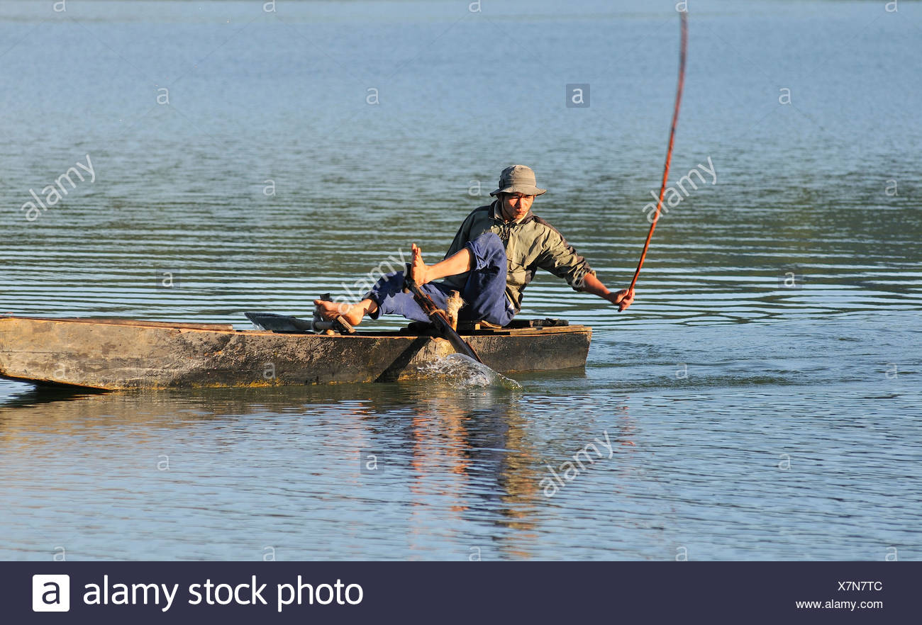 Vietnam highlands traditional stock photos vietnam for Blow up boat for fishing
