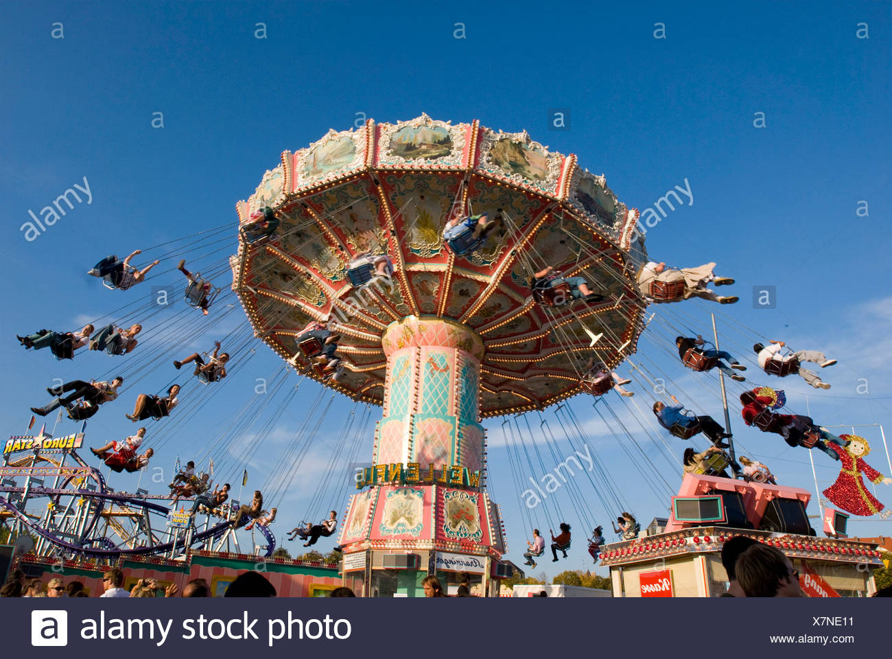 Carousel, Octoberfest, Munich, Bavaria, Germany - Stock Image