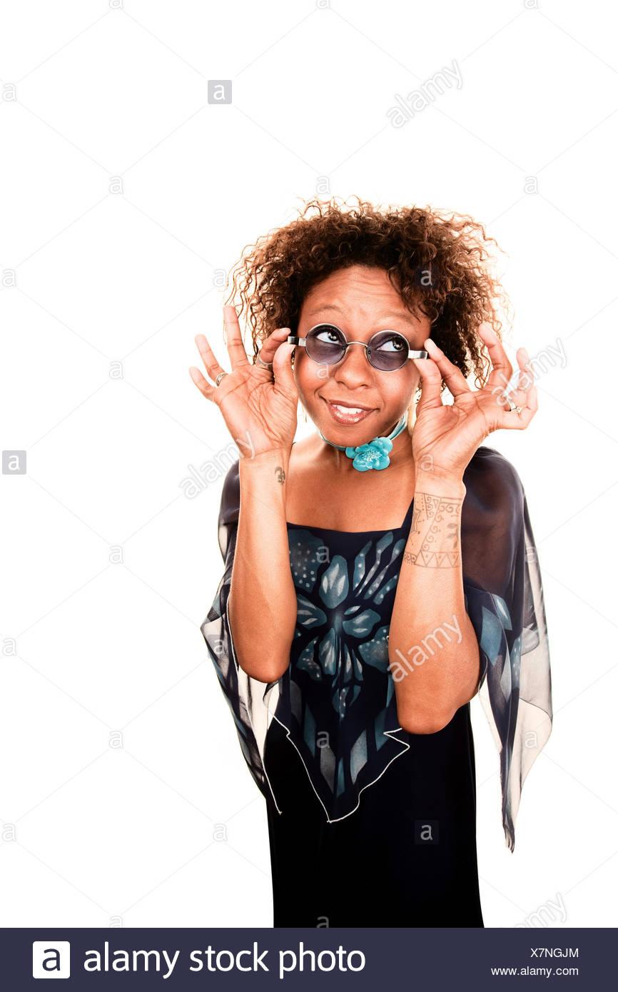 woman lady female black swarthy jetblack deep black adult African