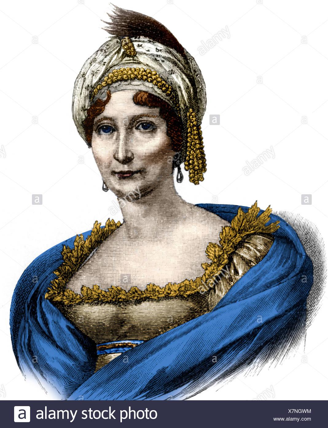 Buonaparte, Laetizia, 24.8.1750 - 2.5.1836, Corsican noblewoman, portrait, wood engraving, 19th century, later coloured,  Letiti - Stock Image