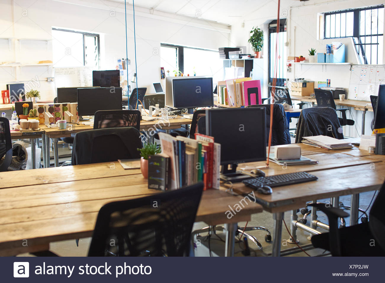Interior Of Modern Design Office With No People - Stock Image