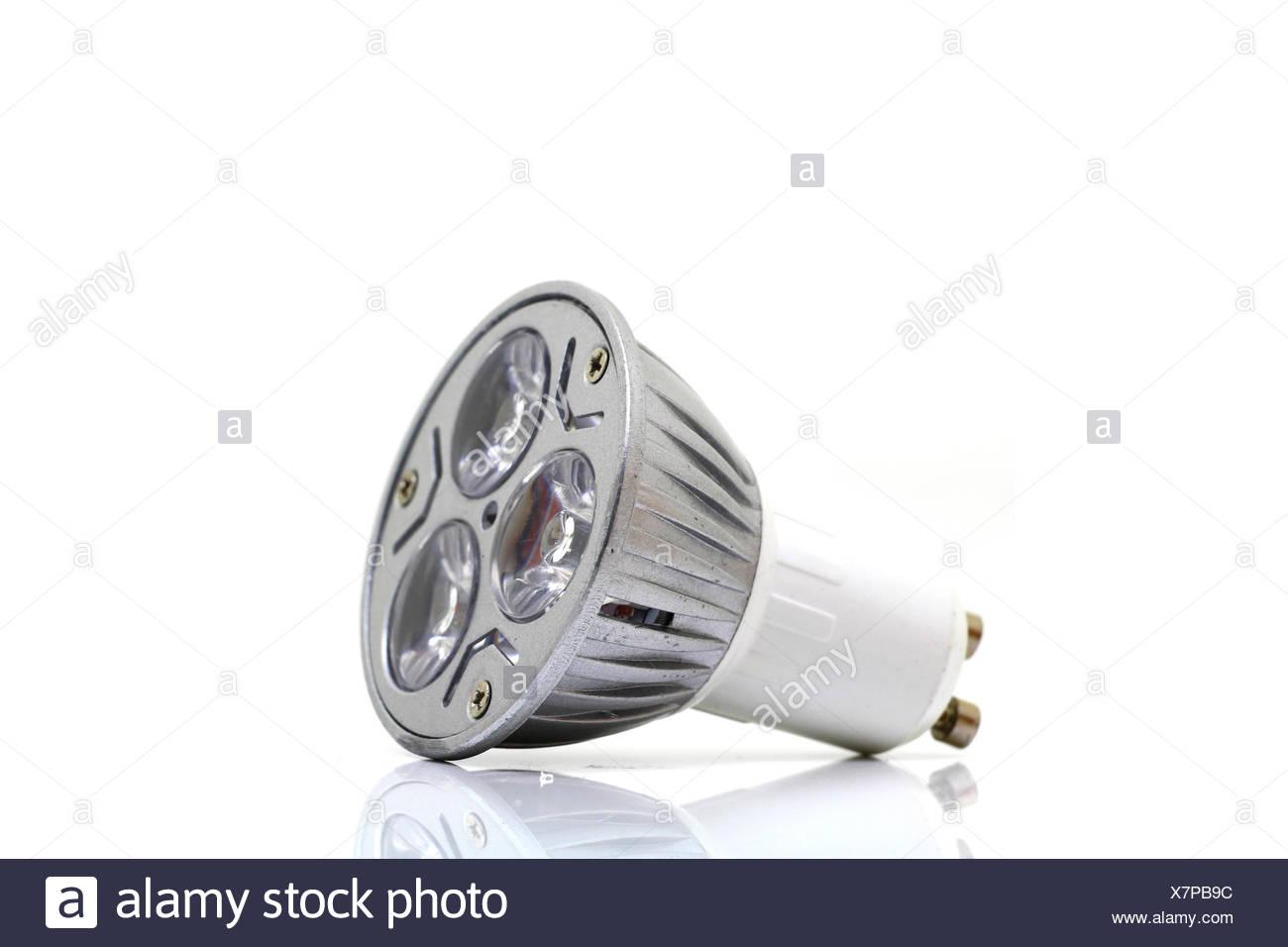 LED on white background - Stock Image