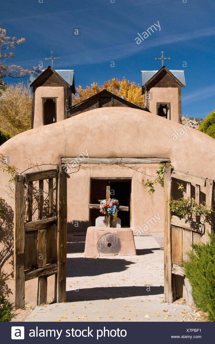 El Santuario de Chimayo, built in 1816, Chimayo, New Mexico, USA Stock Photo
