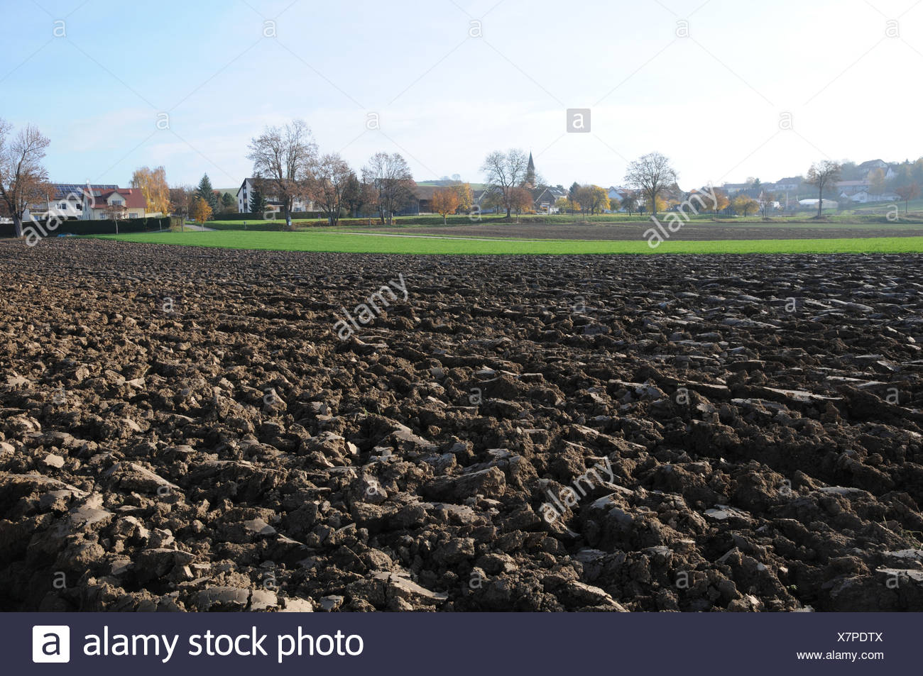 Ploughed Field - Stock Image