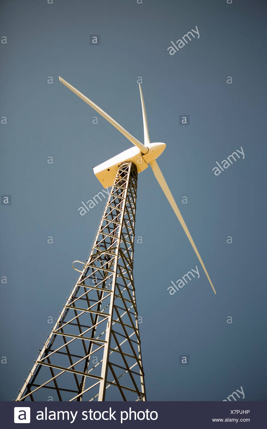 Wind turbine generating electricity - Stock Image