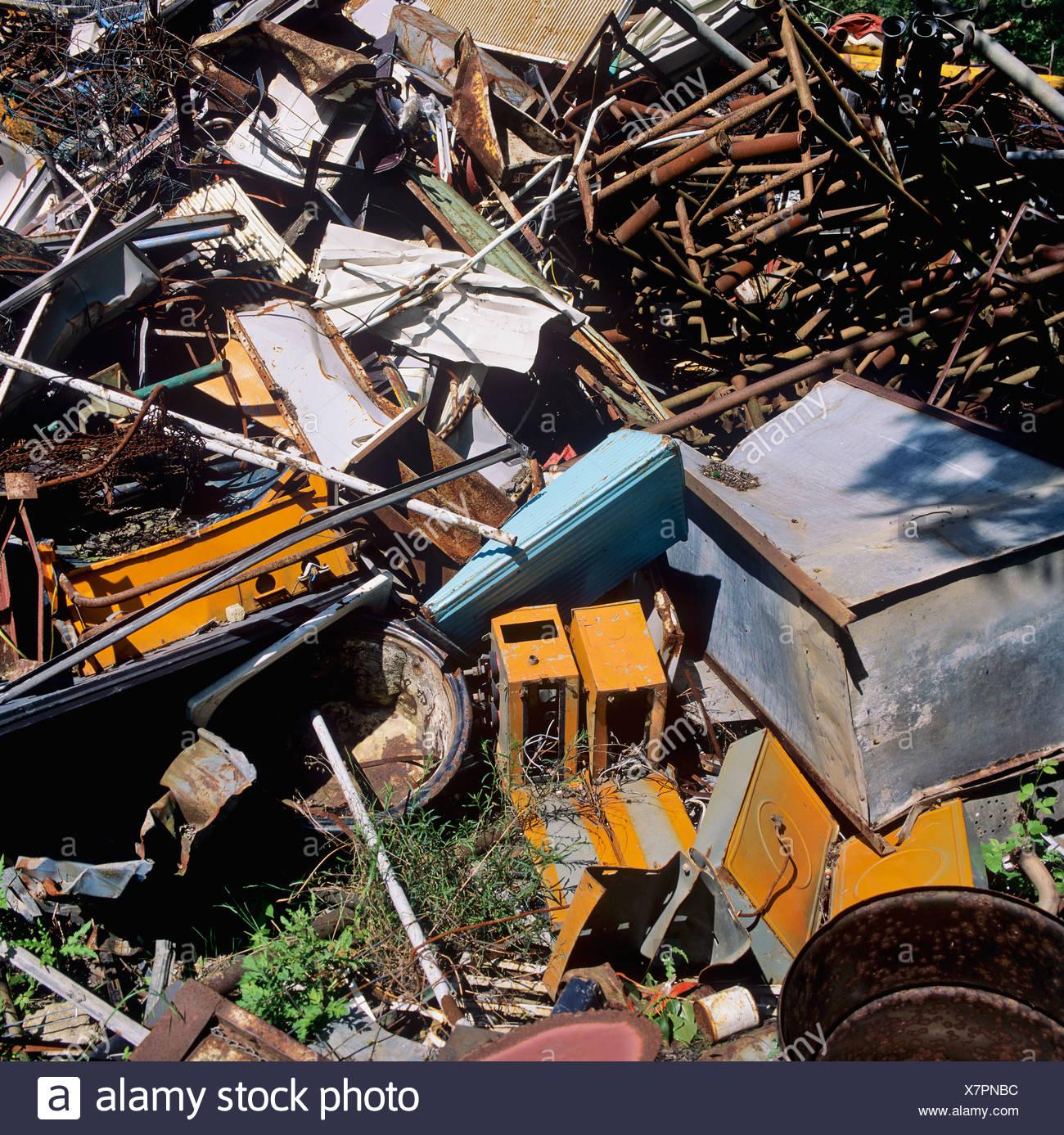 Scrap metal, raw materials - Stock Image