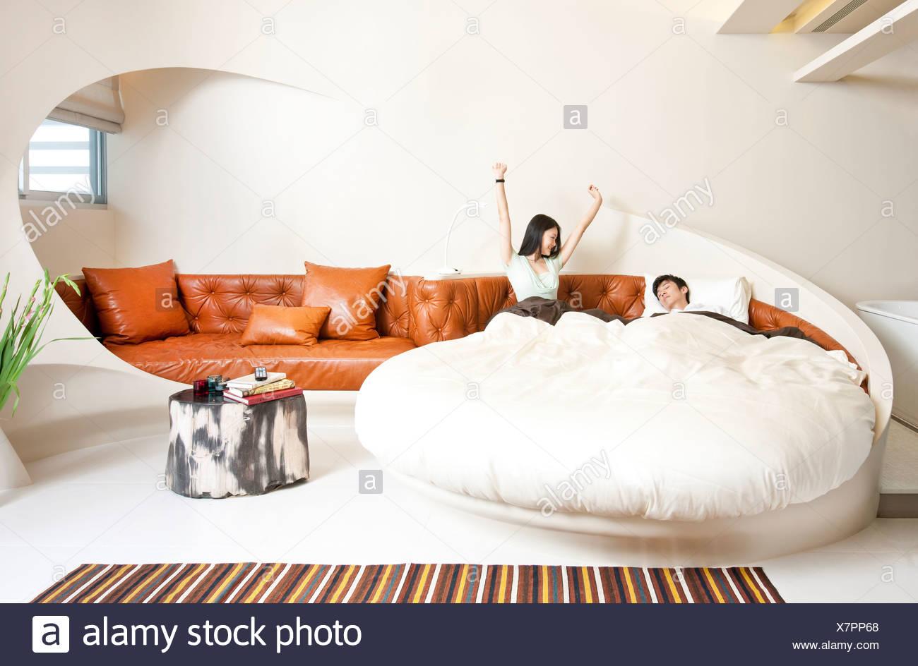 Interior Luxury Apartment Couple Stock Photos & Interior Luxury ...