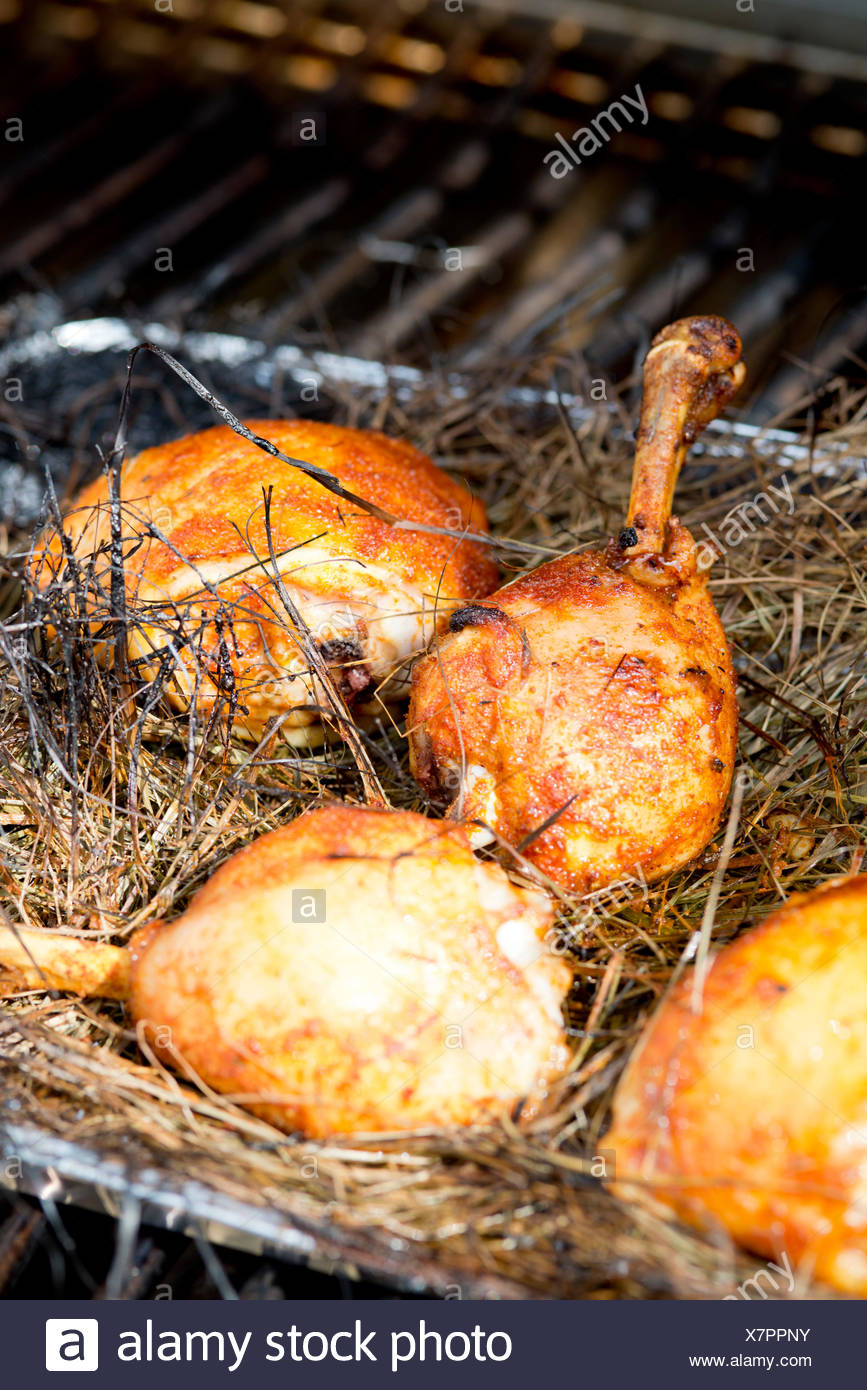 Poultry haunch - Stock Image