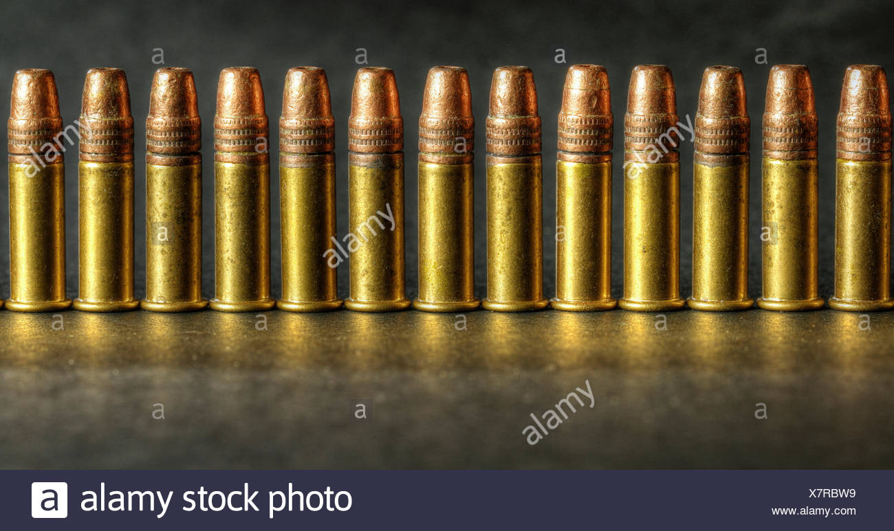 22 calibre long rifle bullets - Stock Image