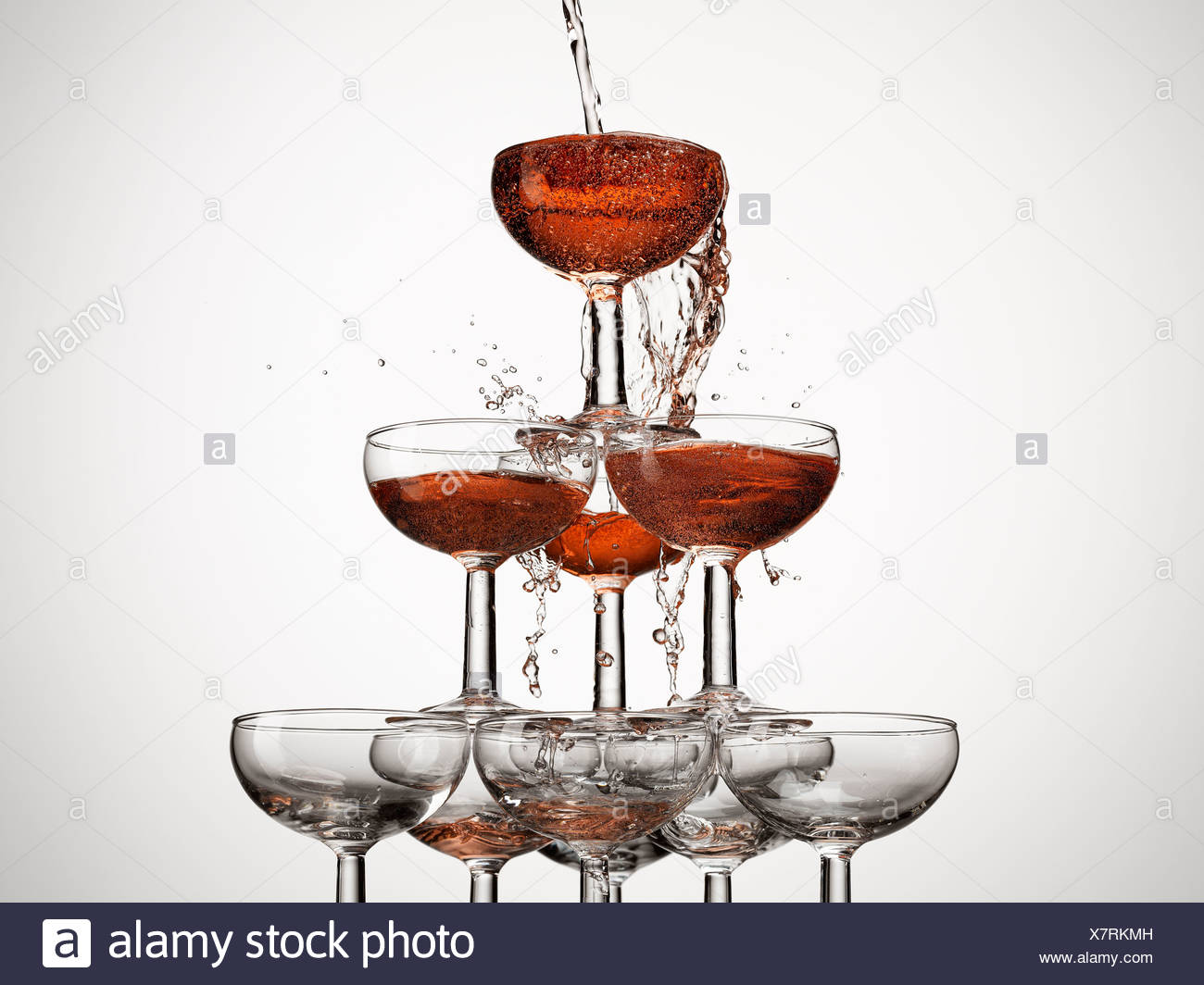 abundance,anticipation,aspiration,beginnings,bubble,celebration,champagne glass,color image,concept,excess,filling,food and - Stock Image