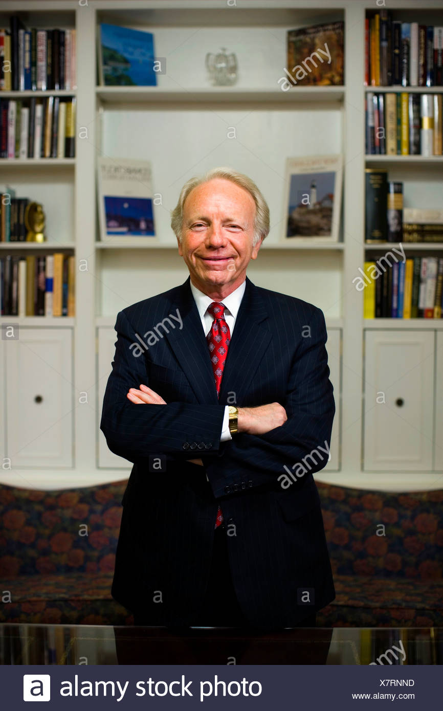A portrait of U.S. Senator Joseph Lieberman in his U.S. Capitol office - Stock Image
