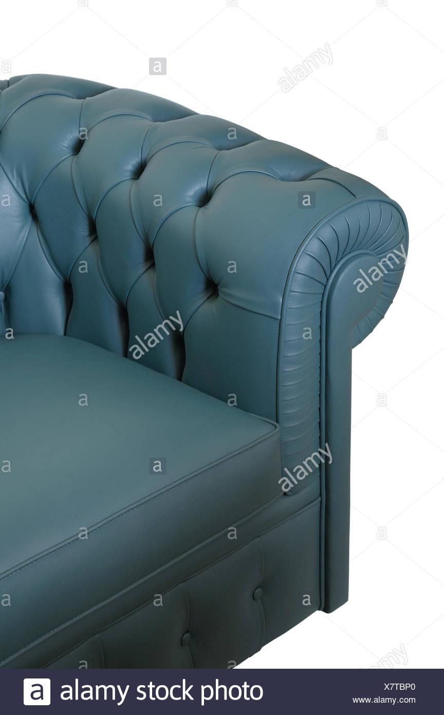 Dark blue leather sofa Stock Photo: 280204568 - Alamy